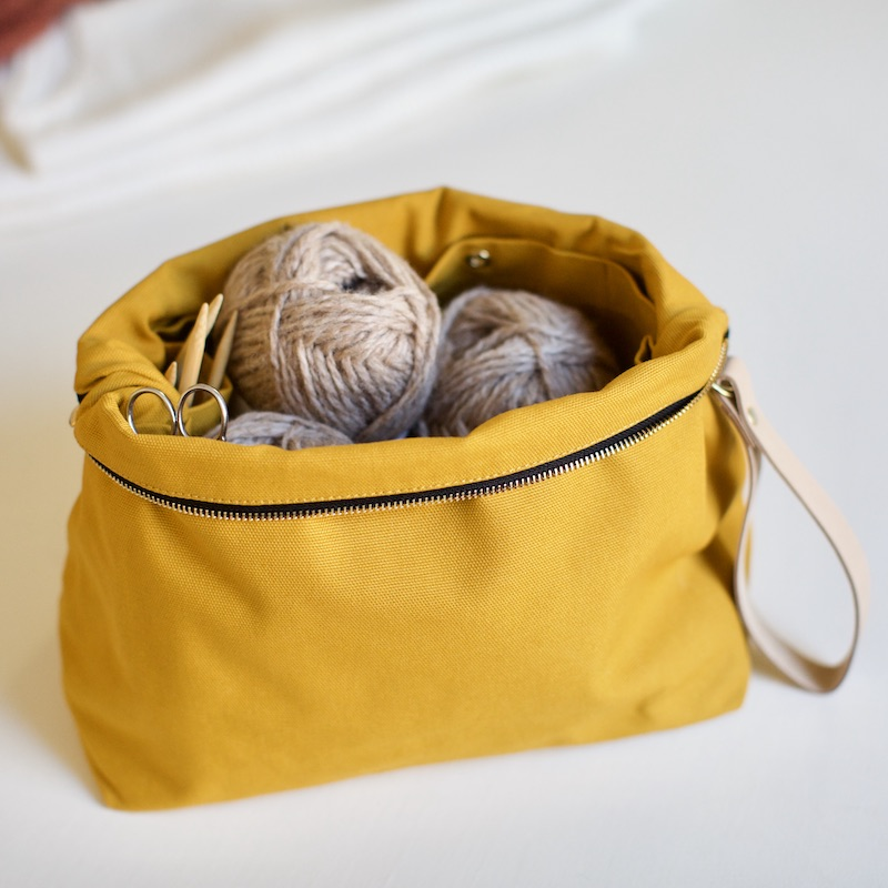 project pouch from plystre for knitters