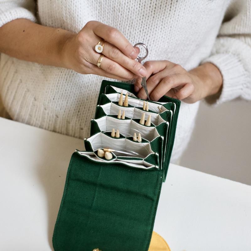 oppbevaring av strikkepinner - utskiftbare pinner