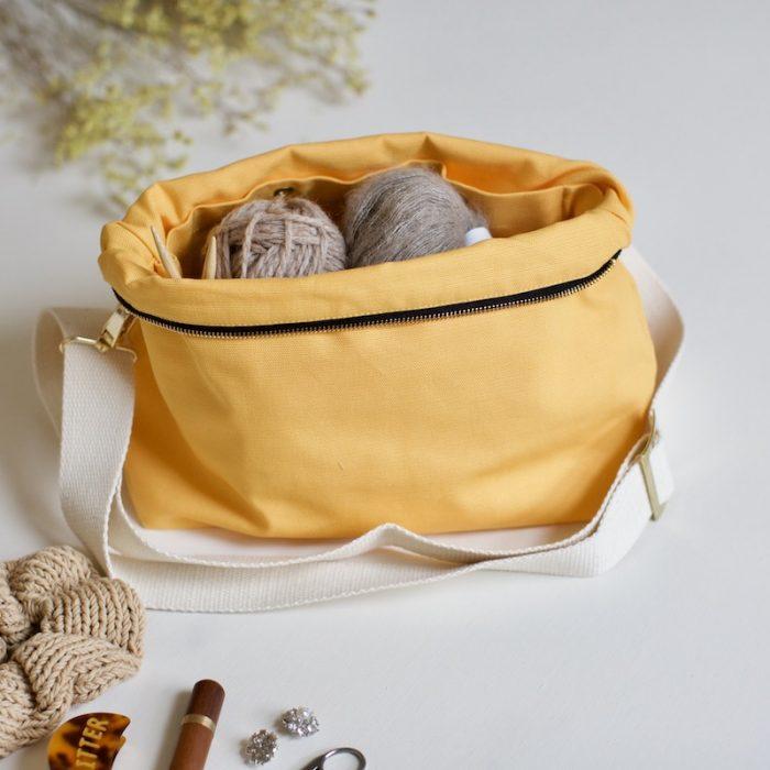 veske strikketøy fra plystre