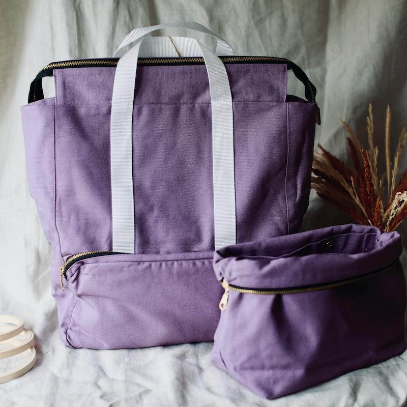 strikkesekk plystre soft lilac