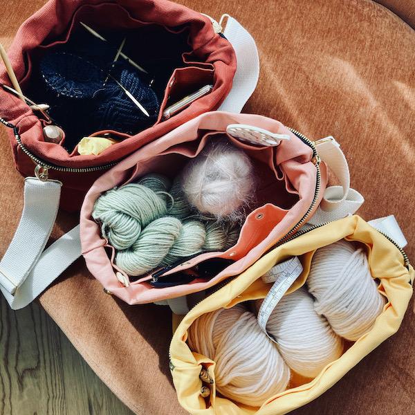 prosjektveske til strikketøy