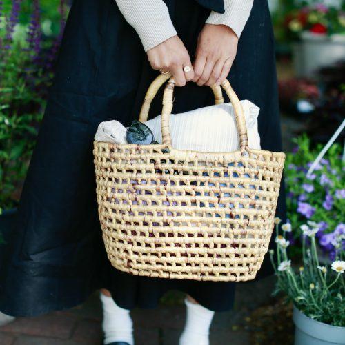 straw yarn basket